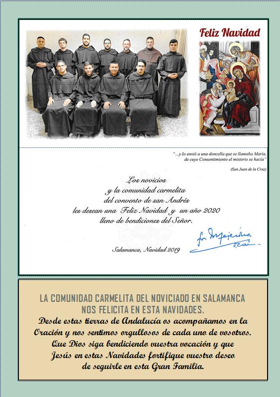 Noviciado Salamanca Navidad 2019
